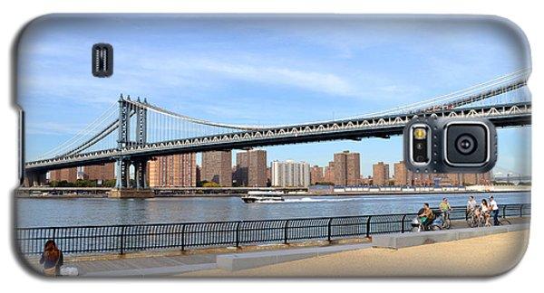 Manhattan Bridge1 Galaxy S5 Case by Zawhaus Photography