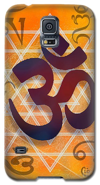 Galaxy S5 Case featuring the digital art Many Faces Of Om by Ginny Schmidt
