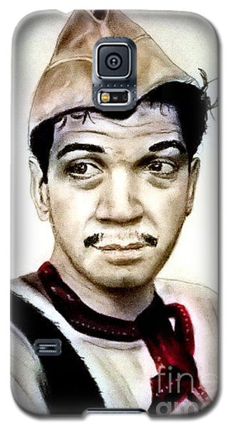 Galaxy S5 Case featuring the pastel Mario Moreno As Cantinflas In El Bombero Atomico  by Jim Fitzpatrick