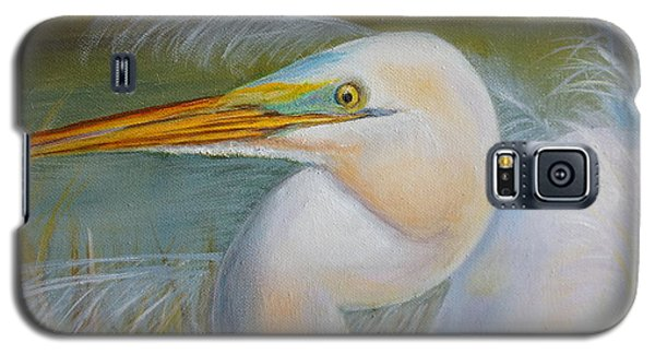 Galaxy S5 Case featuring the painting Marsh Master by Marlyn Boyd
