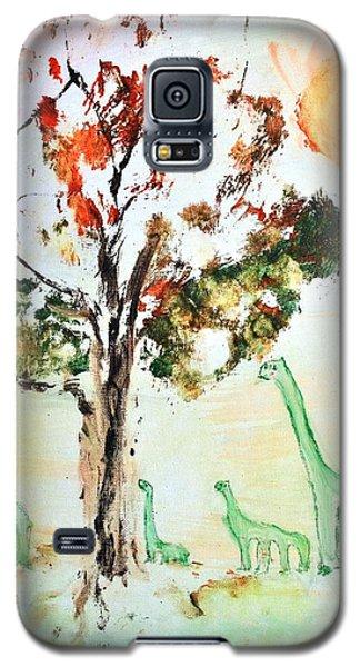 Matei's Dinosaurs Galaxy S5 Case by Evelina Popilian