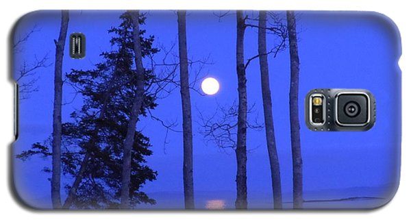 Galaxy S5 Case featuring the photograph May Moon Through Birches by Francine Frank