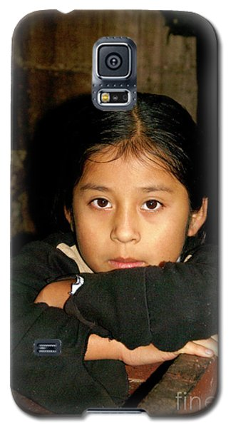 Galaxy S5 Case featuring the photograph Maya Girl Coban Guatemala by John  Mitchell