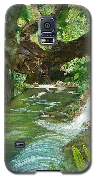 Galaxy S5 Case featuring the painting Maya Ubud Tree Bali Indonesia by Melly Terpening
