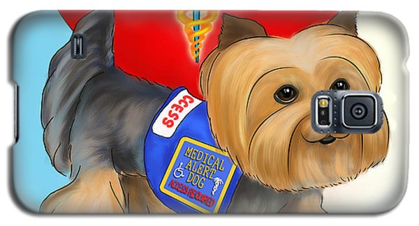 Medical Alert Yorkie Galaxy S5 Case