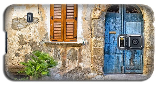 Mediterranean Door Window And Vase Galaxy S5 Case