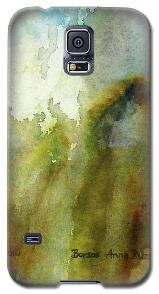 Galaxy S5 Case featuring the painting Melting Mountain by Anna Ruzsan