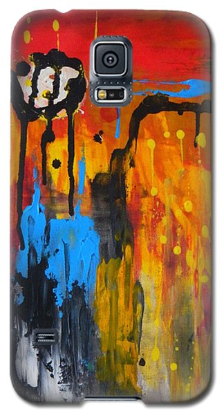 Galaxy S5 Case featuring the painting Melting Point by Everette McMahan jr
