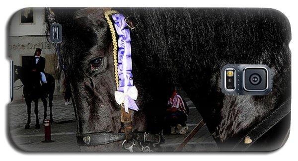 Galaxy S5 Case featuring the photograph Menorca Horse 2 by Pedro Cardona