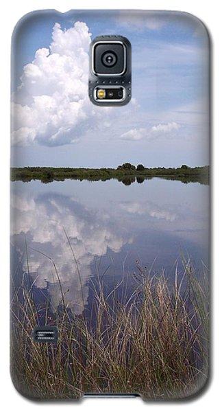 Merritt Island Fl Reflections Wildlife Preserve Galaxy S5 Case by Rebecca Overton