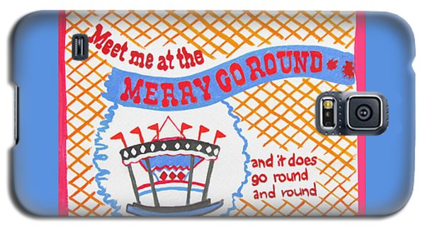 Galaxy S5 Case featuring the painting Merry Go Round by Beth Saffer