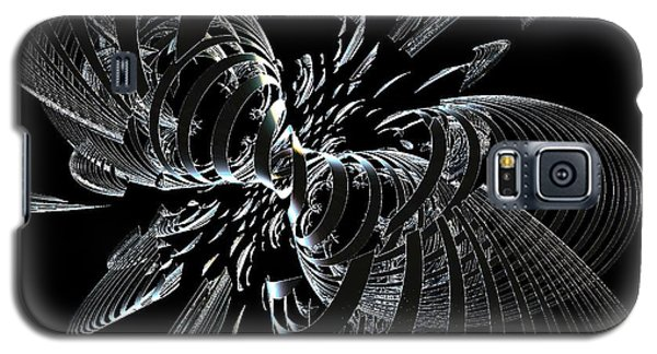Galaxy S5 Case featuring the digital art Metalic Butterfly by Greg Moores