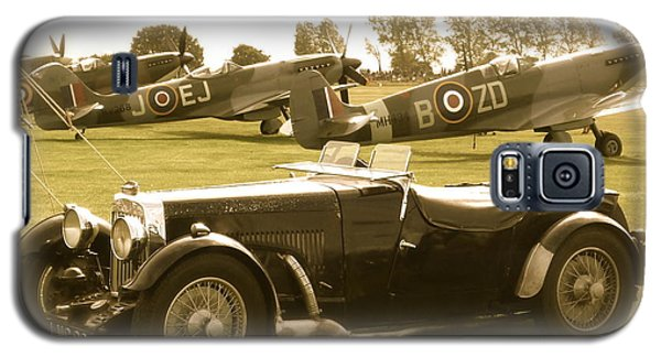 Galaxy S5 Case featuring the photograph Mg And Spitfires by John Colley