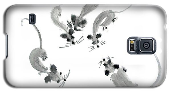Mice - Sumie Style Galaxy S5 Case by Yoshiko Mishina