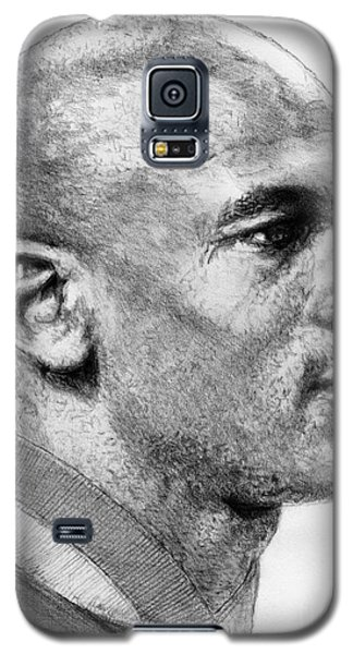 Galaxy S5 Case featuring the drawing Michael Jordan In 1990 by J McCombie