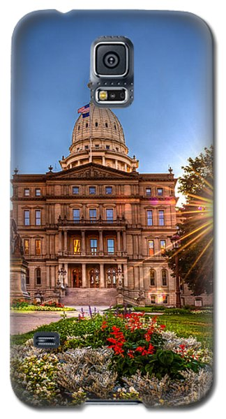 Michigan Capitol - Hdr - 2 Galaxy S5 Case by Larry Carr