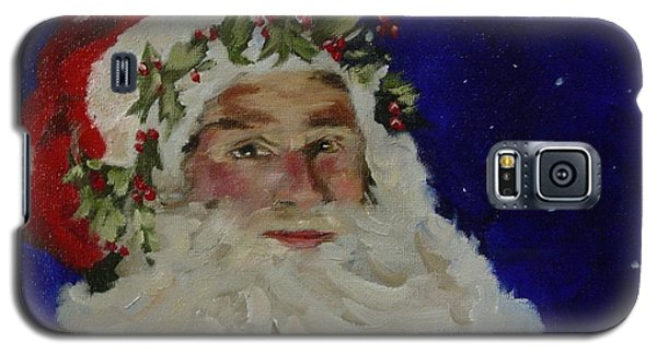 Galaxy S5 Case featuring the painting Midnight Santa by Carol Berning