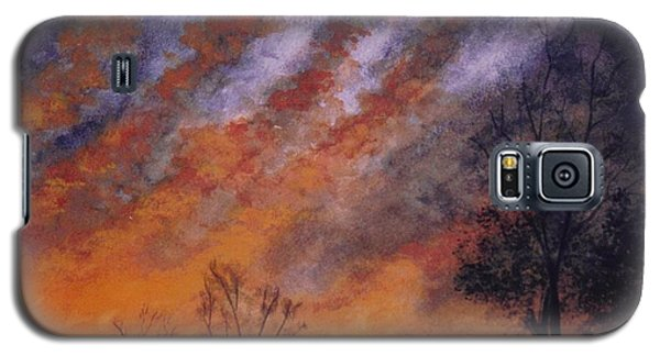 Galaxy S5 Case featuring the painting Midwest Sunset by Stacy C Bottoms