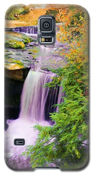 Galaxy S5 Case featuring the painting Mill Creek Waterfall by Michelle Joseph-Long