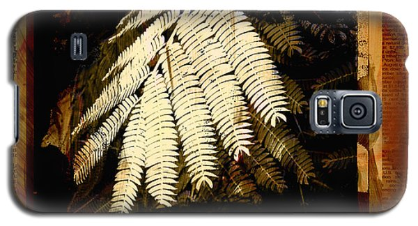 Mimosa Leaf Collage Galaxy S5 Case by Ann Powell