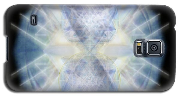 Galaxy S5 Case featuring the digital art Mirror Emergence II Blue N Teal by Christopher Pringer