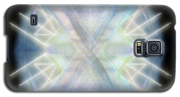 Galaxy S5 Case featuring the digital art Mirror Emergence IIi Blue Green Teal by Christopher Pringer