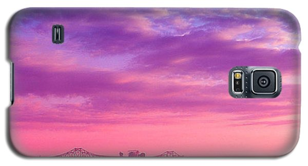 Mississippi River Bridge At Twilight Galaxy S5 Case