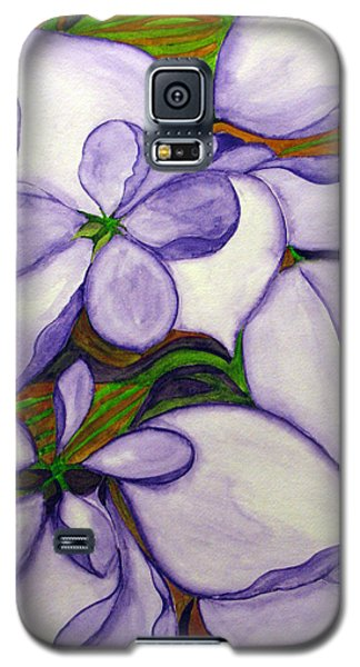 Galaxy S5 Case featuring the painting Modern Mussaenda by Debi Singer