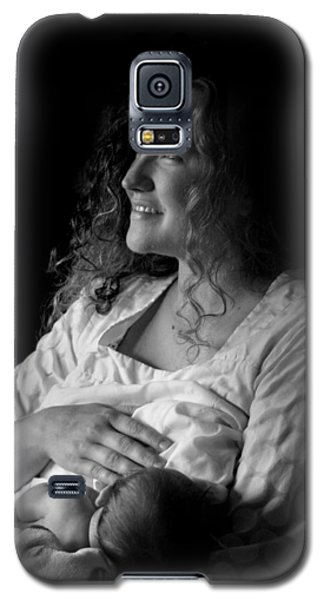 Galaxy S5 Case featuring the photograph Mom And Baby by Kelly Hazel