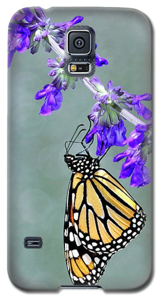 Monarch On Purple Galaxy S5 Case