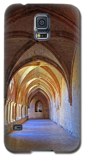 Galaxy S5 Case featuring the photograph Monastery Passageway by Dave Mills