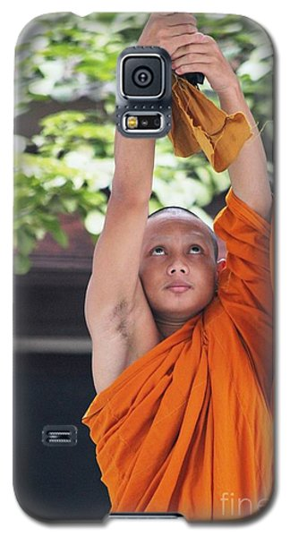 Galaxy S5 Case featuring the photograph Monk In The Bell Tower #2 by Nola Lee Kelsey