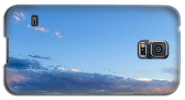 Galaxy S5 Case featuring the photograph Moon Above The Horizon by Monte Stevens