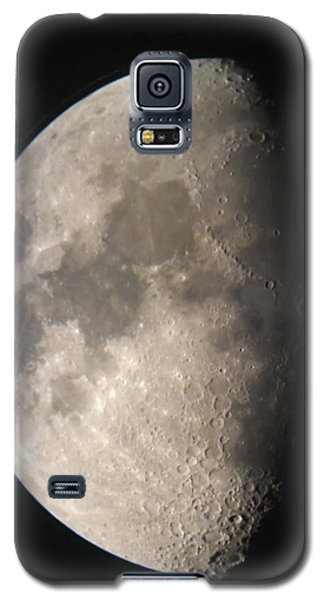 Galaxy S5 Case featuring the photograph Moon Against The Black Sky by John Short