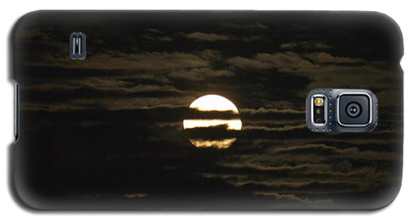 Galaxy S5 Case featuring the photograph Moon Behind The Clouds by William Norton