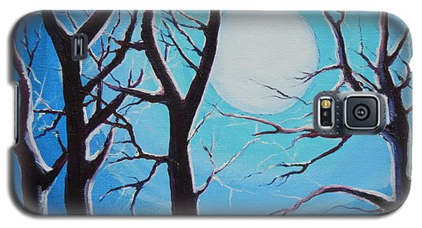 Galaxy S5 Case featuring the painting Moon Light by Dan Whittemore