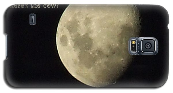 Galaxy S5 Case featuring the photograph Moon Missing Cow by Vicki Ferrari