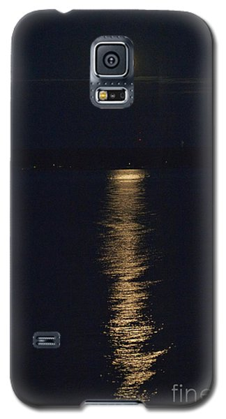 Moon Over Seneca Lake Galaxy S5 Case