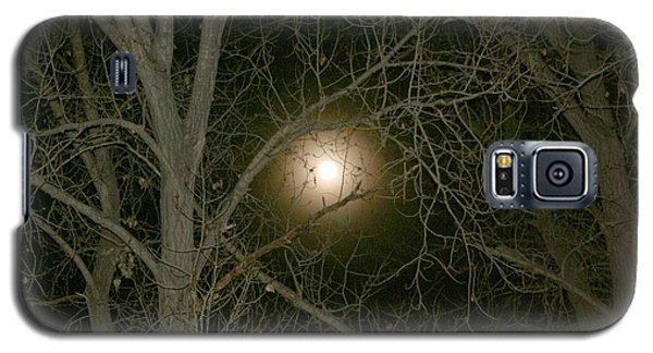 Galaxy S5 Case featuring the photograph Moon Through The Trees by Laurel Talabere