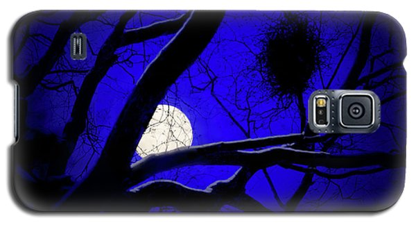 Galaxy S5 Case featuring the photograph Moon Wood  by Richard Piper