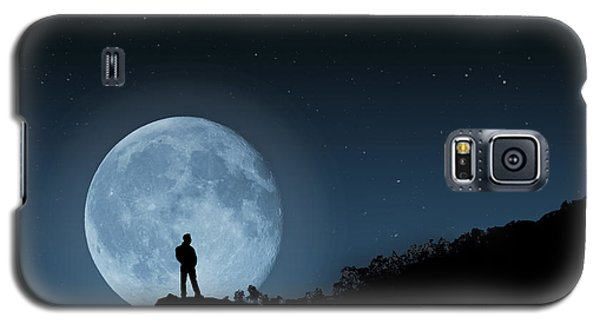 Galaxy S5 Case featuring the photograph Moonlit Solitude by Steve Purnell