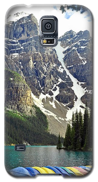Galaxy S5 Case featuring the photograph Moraine Lake by Lisa Phillips