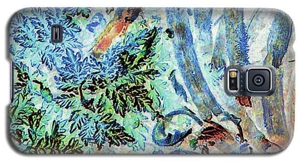 Galaxy S5 Case featuring the photograph Morning Frost On Engelmann Daisies And Mesquite Beans by Louis Nugent
