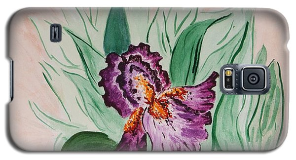 Galaxy S5 Case featuring the painting Morning Iris by Cynthia Morgan