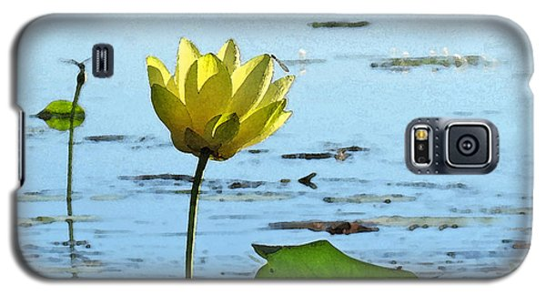 Galaxy S5 Case featuring the photograph Morning Lotus Pond by Deborah Smith