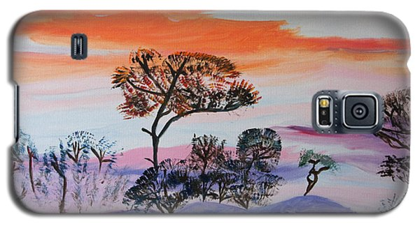 Galaxy S5 Case featuring the painting Morning Skies  by Meryl Goudey