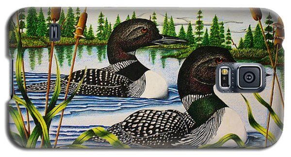 Loon Galaxy S5 Case - Morning Swim by Bruce Bley
