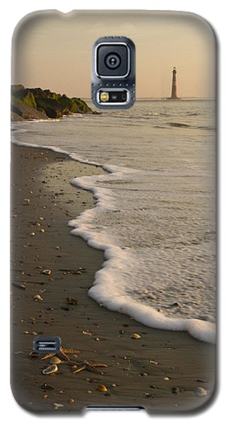 Morris Island Lighthouse Galaxy S5 Case by Carrie Cranwill