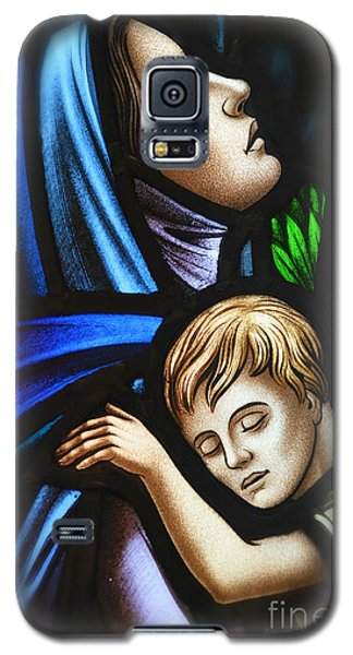 Galaxy S5 Case featuring the photograph Mother And Child Stained Glass by Verena Matthew