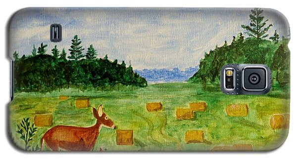 Galaxy S5 Case featuring the painting Mother Deer And Kids by Sonali Gangane